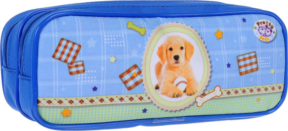 Herlitz Пенал Pretty Pets Dog62241_розовыйПенал в виде косметички Herlitz Pretty Pets Dog выполнен из прочного материала и закрывается на застежки-молнии. Состоит из двух вместительного отделений. Внутри пенала находятся эластичные крепления для канцелярских принадлежностей.Этот пенал станет не только практичным, но и стильным школьным аксессуаром для любого ребенка.