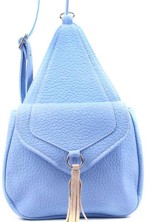 Рюкзак женский Медведково, цвет: синий. 17с3676-к14S76245Рюкзак с одним отделением, закрывается на клапан и молнию. На задней стенке карман на молнии, внутри карман ан молнии и карман для сотового. Длина ручки 1000 мм.