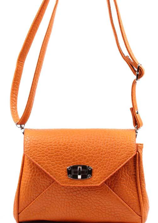 Сумка женская Медведково, цвет: оранжевый. 17с3678-к14S76245Сумка женская с одни отделением, закрывается на клапан. На задней стенке карман на молнии. Внутри карман на молнии, карман для сотового и перегородка на молнии. Ручка 1200 мм.