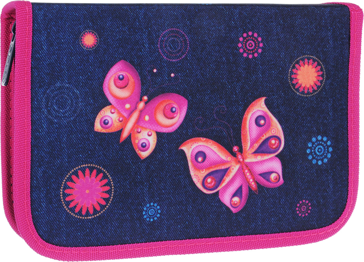 Пенал Herlitz Butterfly Dreams станет не только практичным, но и стильным школьным аксессуаром.Пенал очень вместительный и с ярким дизайном. Состоит из одного отделения на молнии с двумя откидными плотными створками. В наполнение пенала входят шариковая ручка, 2 чернографитных карандаша, 8 цветных карандашей, 14 фломастеров, линейка, угольник, ластик, точилка, расписание уроков на русском языке, личные данные ученика.Такой пенал станет незаменимым помощником для школьника, с ним ручки и карандаши всегда будут под рукой и больше не потеряются.