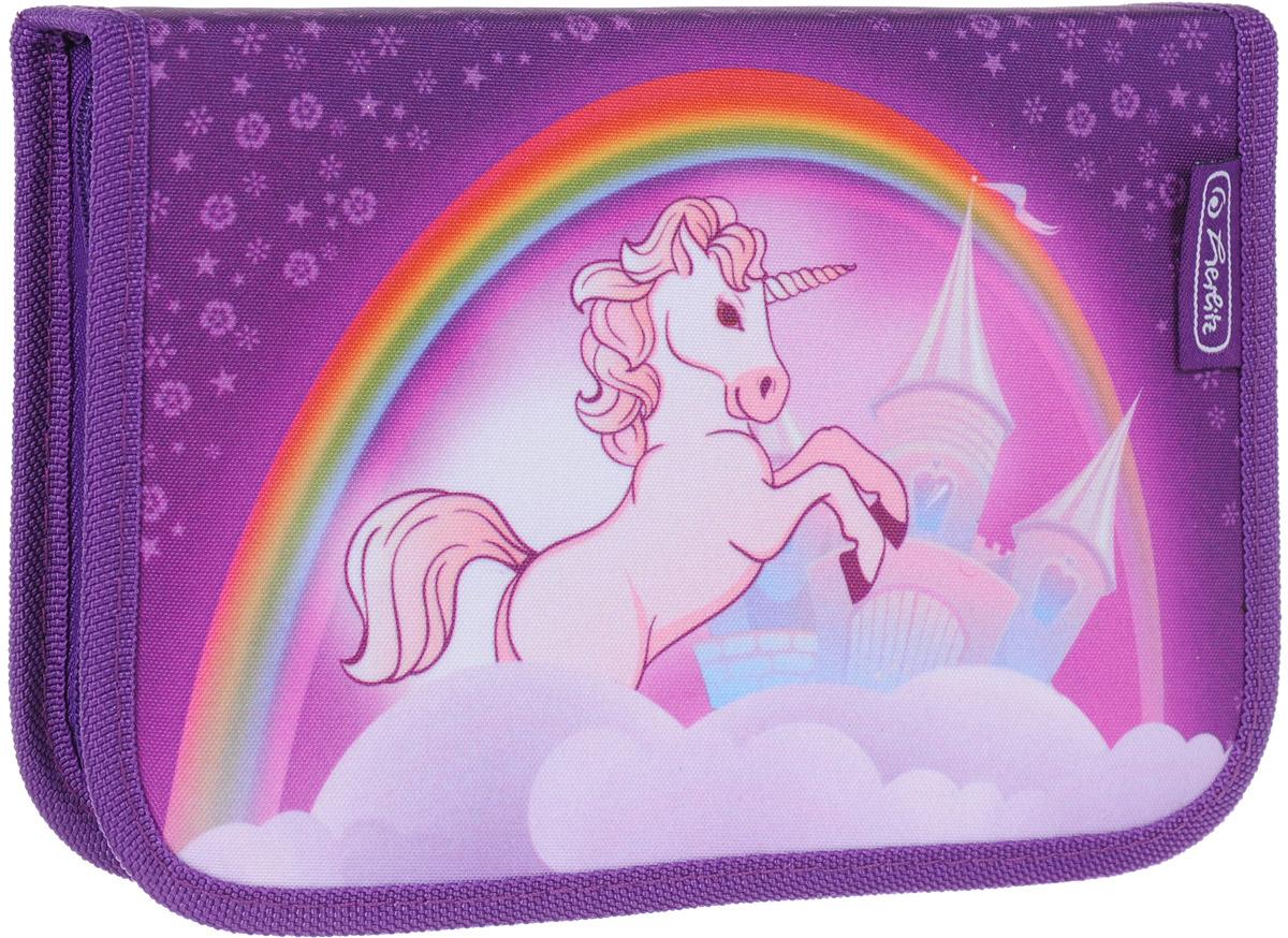 Herlitz Пенал Unicorn с наполнением 31 предмет72523WDПенал Herlitz Unicorn станет не только практичным, но и стильным аксессуаром для школьника.У пенала одно отделение, две откидные створки, прочный кант и жесткая обложка. Удобный, вместительный, с оригинальным и ярким дизайном, пенал, который наполнен полезными для школьника предметами: шариковая ручка, 2 чернографитных карандаша, 8 цветных карандашей, 14 фломастеров, линейка и угольник, ластик и точилка, расписание уроков на русском языке, личные данные ученика.Такой пенал станет незаменимым помощником для школьника, с ним ручки и карандаши всегда будут под рукой и больше не потеряются.