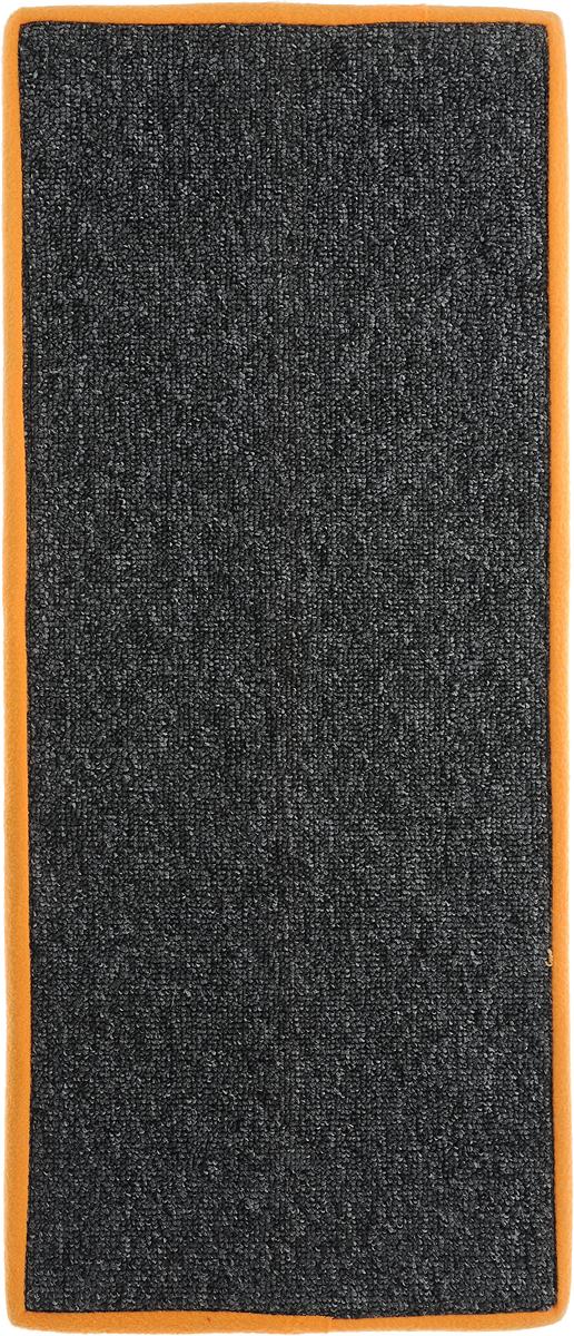 Когтеточка угловая Грызлик Ам, с пропиткой, цвет: серый, оранжевый, 67 x 17 см4640000930677Угловая когтеточка Грызлик Ам предназначена для стачивания когтей вашей кошки и предотвращения их врастания. Изделие выполнено из ДВП и ковролина, края отделаны искусственным мехом. Изделие снабжено специальными отверстиями для крепления. Ковролин обеспечивает естественный уход за когтями питомца. Специальная пропитка привлекает внимание кошки. Такая когтеточка позволит сохранить неповрежденными мебель и другие предметы интерьера. Угловая когтеточка может крепиться на смежных поверхностях стен и пола.