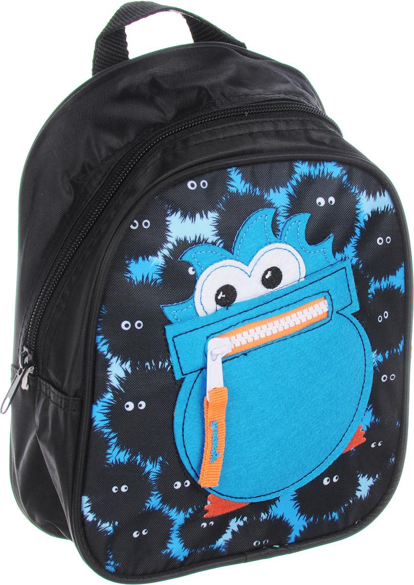 Росмэн Рюкзак дошкольный Монстрик 2930572523WDСтильный рюкзачок Монстрик - это невероятно привлекательный аксессуар для вашего малыша. В его внутреннем отделении на застежке-молнии легко поместятся не только игрушки, но даже тетрадка или книжка.Благодаря регулируемым лямкам, рюкзачок подходит детям любого роста. Удобная ручка помогает носить аксессуар в руке или размещать на вешалке.Изделие изготовлено из износостойкой, водонепроницаемой ткани, поэтому оно будет служить долгое время, сохраняя положенные в него вещи сухими даже в дождливую погоду.Рюкзачок декорирован уникальным кармашком из фетра в форме монстрика со ртом.