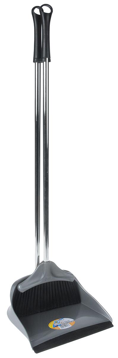 Набор для уборки Fratelli RE Duck, цвет: серый, 2 предмета. 11707-AVCA-00Набор для уборки Fratelli RE Duck включает в себя совок и щетку, выполненные из высококачественной стали и прочного пластика. Эластичный ворс на щетке не оставит от грязи и следа, а благодаря резиновому краю на совке, грязь и мусор будут легко сметаться на него. Для дополнительного удобства совок и щетка снабжены специальным креплением, с помощью которого, вложив щетку в совок, их можно разместить в любом месте. Размер совка: 26,5 х 26,5 х 11 см. Длина ручки совка: 73 см. Размер щетки: 21 х 7 х 3 см. Длина ручки щетки: 75 см.