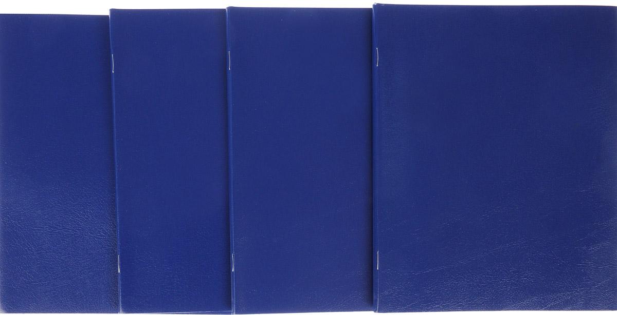 Комплект тетрадей Action! Sponsor включает в себя 4 тетради.Обложка каждой тетради изготовлена из бумвинила. Внутренний блок состоит из 48 листов белой бумаги, соединенных скрепками. Стандартная линовка в голубую клетку дополнена полями, совпадающими с лицевой и оборотной стороны листа.
