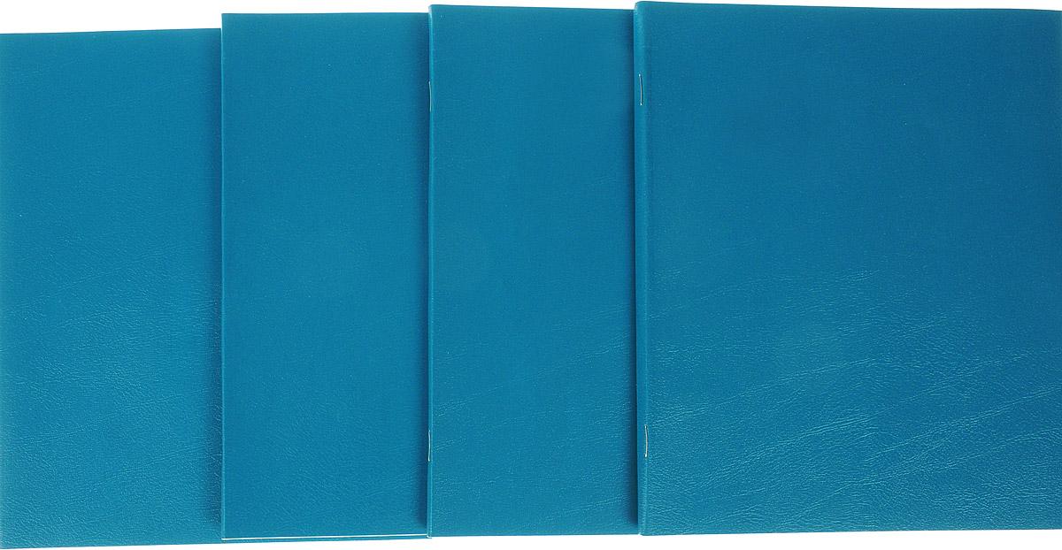 Action! Набор тетрадей Sponsor 48 листов в клетку цвет зеленый 4 шт зажимы для бумаги 25 мм 12шт sponsor