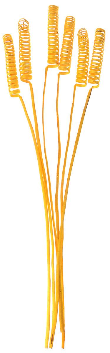 Украшение декоративное Lovemark Завиток, цвет: желтый, длина 63 см, 6 шт09840-20.000.00Букет с цветами ручной работы - великолепный подарок себе и вашим близким. Этот очаровательный предмет интерьера будет приковывать взгляды ваших гостей.Изделия из соломы сочетают в себе энергию солнечных лучей и человеческих рук. Несмотря на свой хрупкий вид, cолома - прочный и долговечный материал, а значит не помнется и не поломается со временем. Рекомендации по уходу: изделие должно находиться в сухом помещении