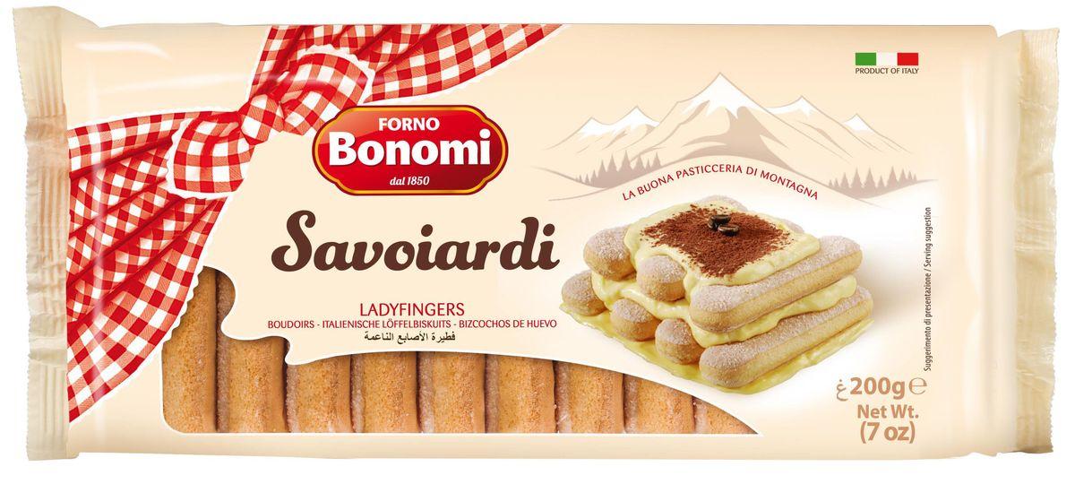 Forno Bonomi Савоярди печенье сахарное, 200 г0120710Печенье Савоярди Сахарное Bonomi - вкуснейшее бисквитное печенье, вкус которого, вне сомнения, сможет удивить и порадовать родных и близких. Идеально для приготовления Тирамису и тортов мороженных. История компании Форно Бономи восходит к 1850 году, когда Форно Бономи открыл семейную пекарню в маленькой живописной деревне Веро Веронезе, расположенной высоко в горах неподалеку от Вероны, города Ромео и Джульетты.Со временем популярность кондитерских изделий росла и благодаря усилиям трех братьев, Дарио, Ренато и Фаусто и семейная компания Форно Бономи расширялась.Залог успеха компании Forno Bonomi - великолепное качество кондитерских изделий, которые традиционно производятся по семейной рецептуре с использованием натуральных ингредиентов. В компании работает более 150 сотрудников, создавая и совершенствуя различные продукты и технологии, направленные на улучшение качества. Кондитерские изделия ТМ Forno Bonomi представлены более чем в 90 странах мира.Компания неизменно находится в том же живописном месте: в высокогорье Ровере, сохраняя неизменным подход к качеству и деталям, позволившим стать компании Forno Bonomi крупнейшим мировым производителем всеми любимого печенья савоярди.Печенье Савоярди Forno Bonomi рекомендовано Федерацией итальянских шеф-поваров (FIC) для приготовления традиционного итальянского десерта Тирамису.