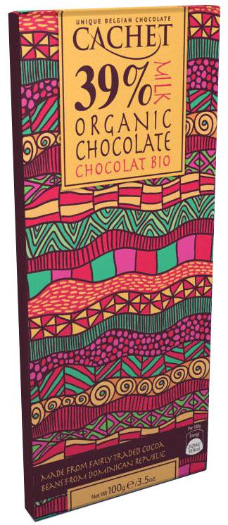 Cachet Organic Dominican Republic шоколад молочный 39% какао, 100 г ufeelgood organic pumpkin seeds органические семена тыквы 150 г