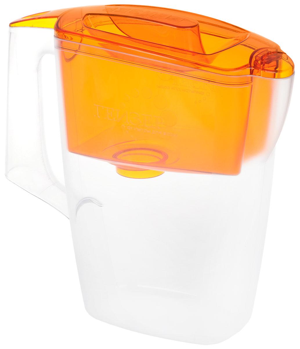 Фильтр-кувшин Гейзер Мини, с картриджем, цвет: прозрачный, оранжевый, 2,5 + Смесь для глинтвейнаСтандарт (голуб.)Фильтр-кувшин Гейзер Мини, выполненный из пластика, станет необходимым помощником на вашей кухне. Он предназначен для очистки холодной водопроводной, скважинной и колодезной воды от ржавчины, растворенного железа, тяжелых металлов, хлора, органических соединений и других примесей.Фильтр-кувшин обладает рядом преимуществ:- компактный размер, помещается в дверце холодильника, - имеет шкалу объема очищенной воды, - оснащен герметичной системой установки картриджа, - можно мыть в посудомоечной машине.В комплект входит сменный картридж и смесь для глинтвейна.Глинтвейн - горячий напиток на основе вина. Крупные кусочки специй придают вину мягкий аромат и нежный вкус.Способ приготовления: возьмите 1 бутылку красного вина, 100 г сахара и пакетик смеси для глинтвейна. Разогрейте вино, сахар и смесь приправ до 80°С и оставьте на 1 час под крышкой. Для приготовления безалкогольного напитка возьмите вместо вина виноградный или вишневый сок. Сахар добавляйте по вкусу.Состав: изюм, имбирь, корица, цедра горького апельсина, кардамон, гвоздика.Пищевая ценность (на 100 г продукта): белки - 4,5 г, жиры - 1,9 г, углеводы - 54 г.Товар сертифицирован.Объем приемной воронки: 0,9 л.Полезный объем: 1,6 л.Высота кувшина: 23 см.