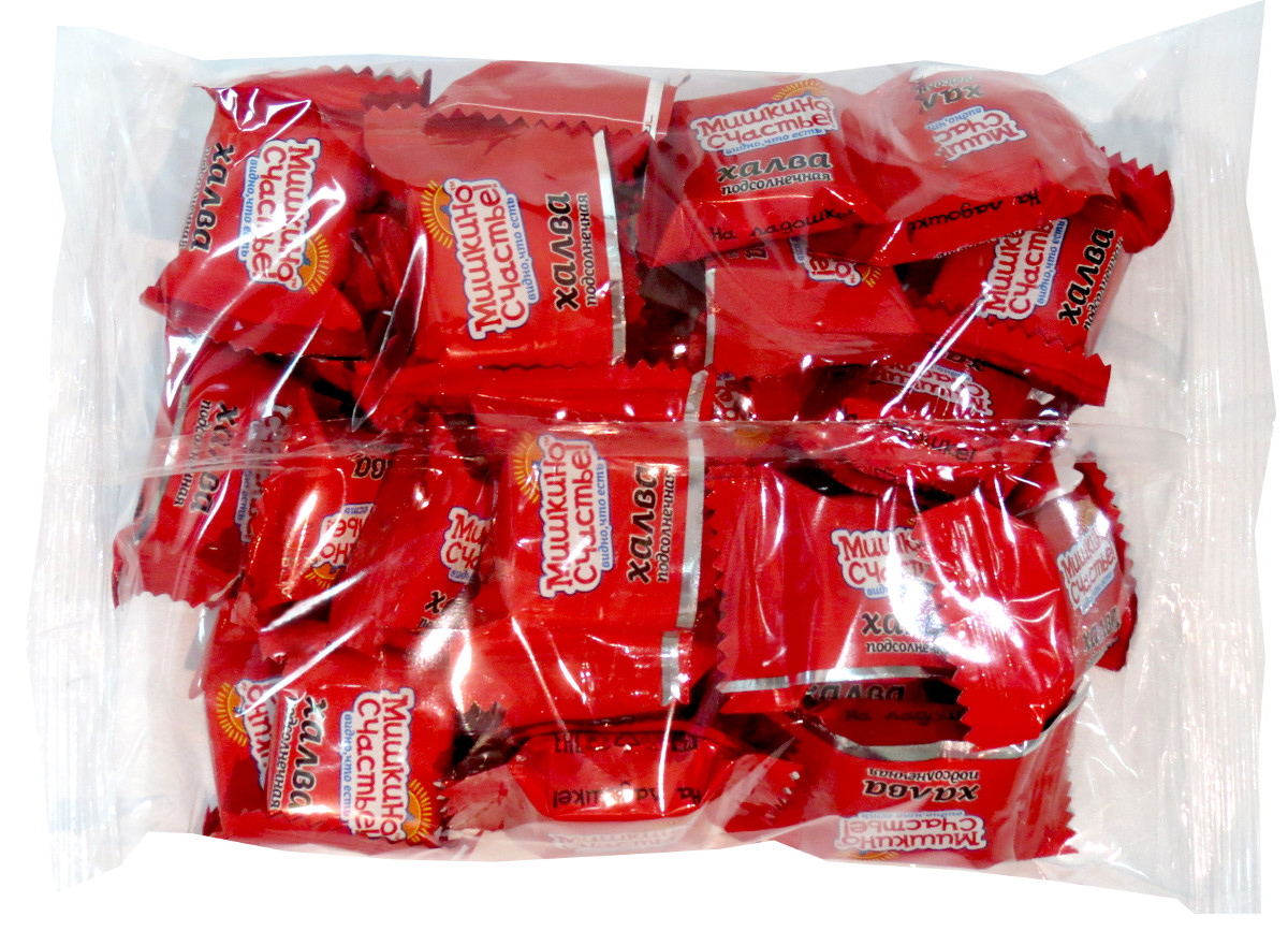 Мишкино счастье конфеты халва подсолнечная, 500 г4640000272265Тающая во рту конфета из нежнейшей халвы. Конфеты в удобной упаковке.