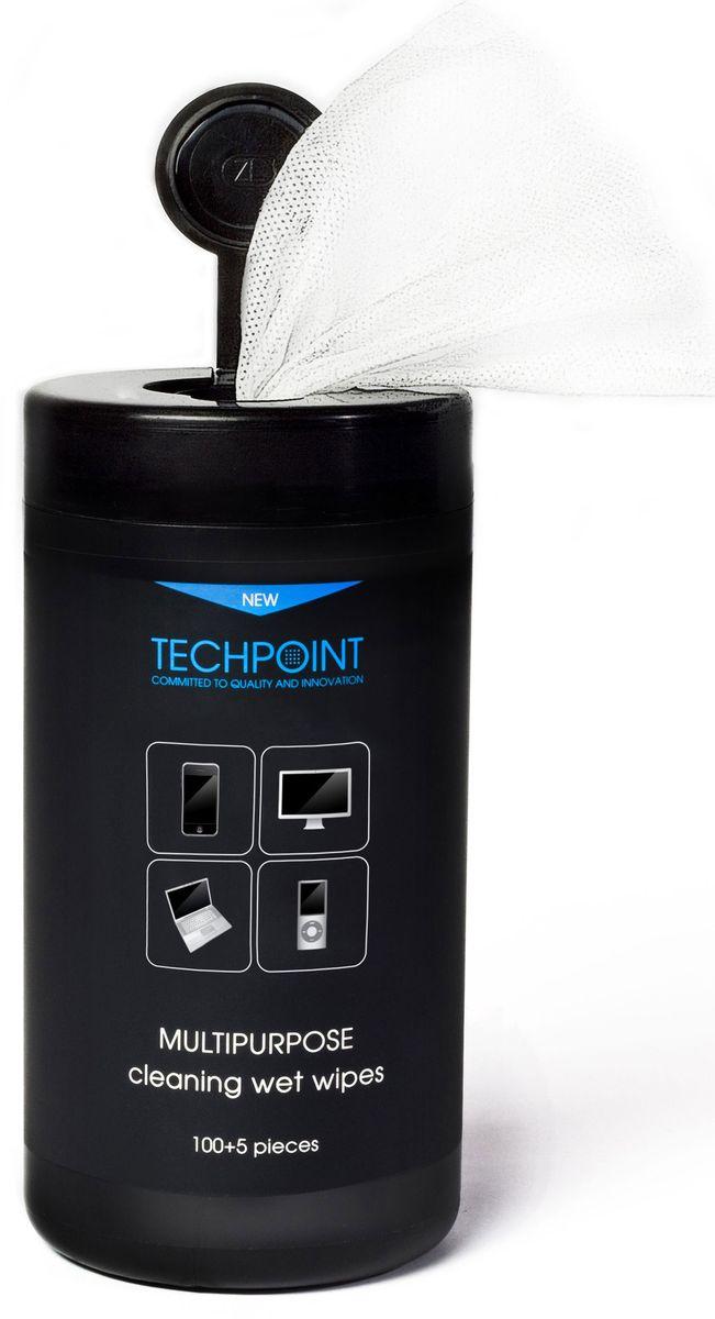 Салфетки для пластиковых поверхностей Techpoint Multi Purpose Cleaning, влажные, 105 шт787502Влажные Салфетки универсальные. Для комплексного ухода за техникой.