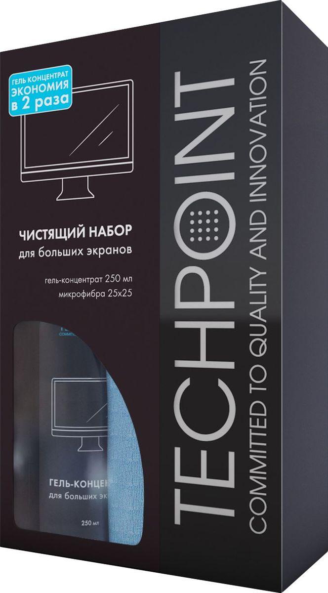 Набор для ухода за экранами Techpoint, 2 предметаFS-99701Идеально подходит для ухода за ТВ больших диагоналей. Не оставляет следов. Благодаря использованию геля, экономия составляет до 2-х раз и позволяет покупателю не увеличивать свои расходы из-за большого экрана своего TV.