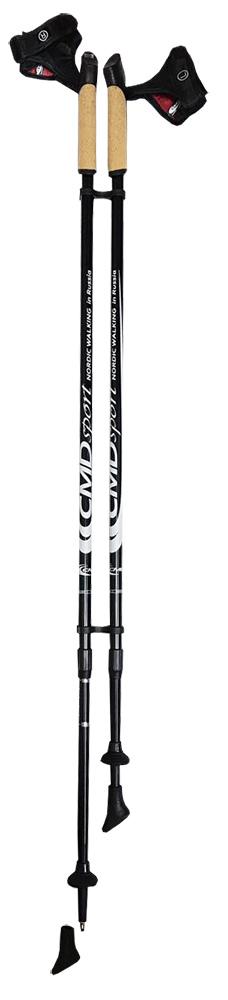 Палки для скандинавской ходьбы CMD Sport, телескопические, цвет: черный, S-M, длина 90-140 см, 2 штCMD-black-S-MТелескопические алюминиевые палки для скандинавской ходьбы CMD Sport черного цвета. Палки состоят из двух секций, и имеют размер 87 см в сложенном виде. Такие палки удобны при транспортировке, их можно положить в чехол или оставить в автомобиле до очередного занятия.Палки для скандинавской ходьбы CMD Sport выполнены из прочного алюминия, и прекрасно подойдут новичкам для освоения правильной техники скандинавской ходьбы. Каждая пара палок укомплектована резиновыми наконечниками для ходьбы по асфальту. При занятиях в парке на грунте, песке или по снегу можно использовать металлические наконечники, которые изготовлены из вольфрама, и прослужат вам не один сезон. Ручки скандинавских палок CMD Sport эргономичной формы и изготовлены из пластика со вставкой из натуральной пробки, что обеспечит комфорт при занятиях в любую погоду. Темляки телескопических палок CMD Sport являются быстросъемными. Вы можете отстегнуть руку с темляком от ручки палки за пару секунд и сделать несколько упражнений или ответить на срочный звонок.Палки для финской ходьбы CMD Sport легки в использовании и практичны, благодаря телескопической конструкции могут быть использованы ходоками с разным ростом. Они станут прекрасным подарком близким людям.Основной цвет: черныйВысота: регулируемая (телескоп.)Размер: 90-140 смСостав: алюминиевый сплавРучка: PP with cork (полипроп./пробка)Темляк: ComFit C, съемныйРазмер темляка: S/M или L/XLНаконечник: Несъемный металлический для грунтаНасадка: резиновый башмакНе подлежит обязательной сертификацииСрок службы 5 летГарантия на палки для скандинавской ходьбы действует в течение 30 дней с момента покупки, распространяется только на древко палок, не распространяется на комплектующие принадлежности (темляки, наконечники). Гарантийным случаем не является:- неисправность, возникшая по вине Покупателя (неправильная эксплуатация, несоблюдение техники скандинавск
