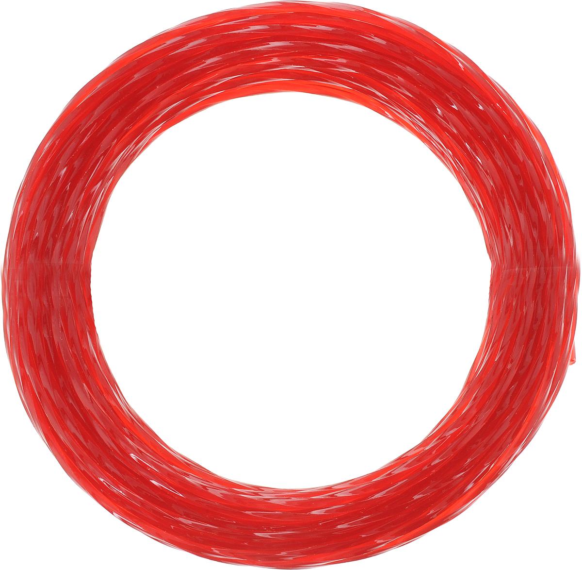 Леска для триммера Siat Professional Siat. Квадрат, цвет: красный, диаметр 2 мм, длина 15 м леска для триммера oregon 99152е старлайн 2 мм х 15 м