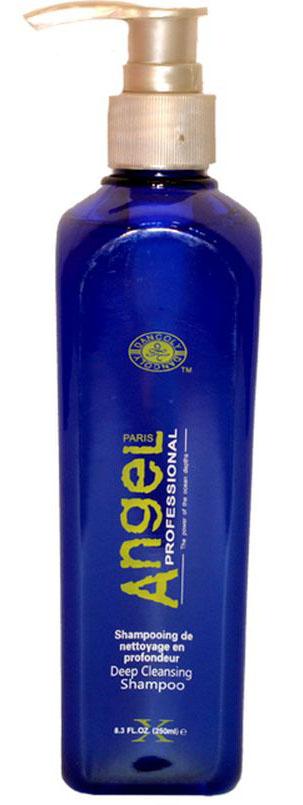 Angel professional Шампунь глубокой очистки для волос, 250 млFS-00897Шампунь с экстрактом морских водорослей. Мягко и эффективно очищает волосы и кожу головы от остатков морской соли, минералов и хлора, которые оседают на волосах после купания в море или посещения бассейна.Удаляет с волос остатки стайлинга, последствия некорректно выполненных косметических процедур и другие механические загрязнения.Мягко вымывает различные загрязнения из внутренней и внешней структуры волоса. Формула шампуня содержит натуральные очищающие элементы, которые освежают и оживляют кожу головы. Рекомендовано для всех процедур по окрашиванию и химической обработки волос.