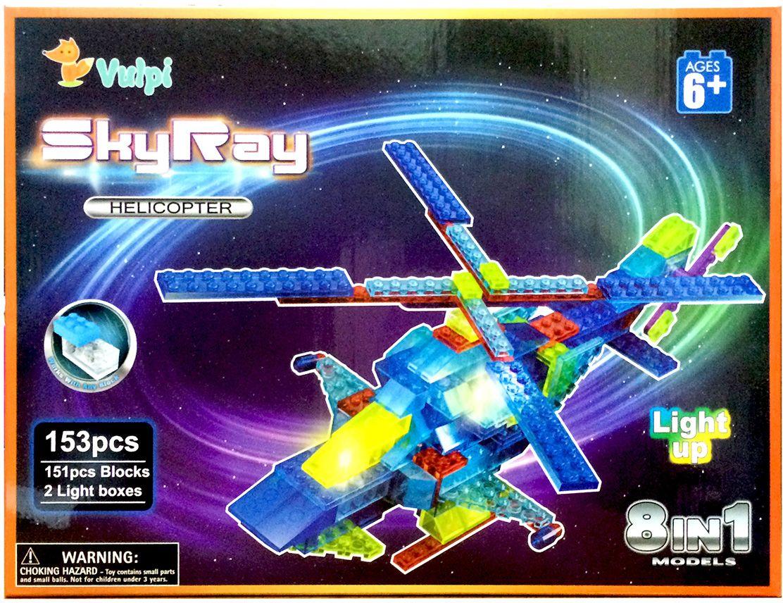 Sky Ray Конструктор Вертолет 8 в 1 bebelot 3d мягкий конструктор транспортный вертолет