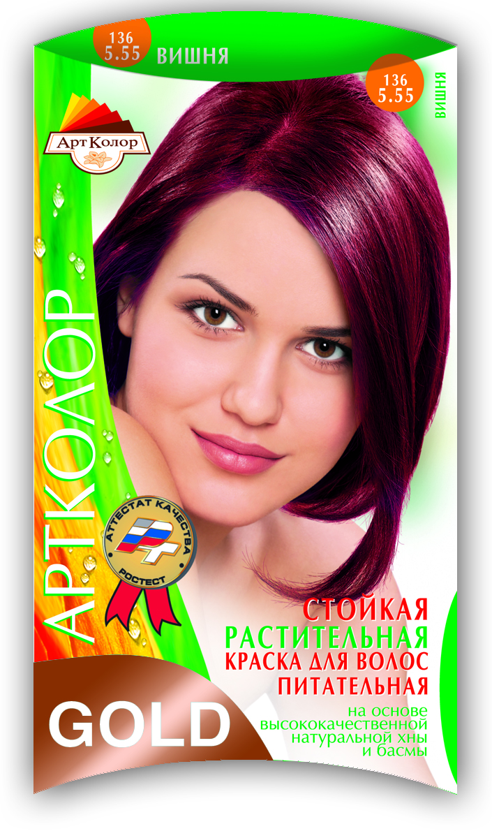 Артколор Gold растительная краска, тон Вишня (136), 25 г0934275090Безупречное окрашивание волос с оздоравливающим и ухаживающим эффектом.Без аммиака и перекиси водорода.Экологически чистый растительный продукт с растительными протеинами и природными витаминами.• Придаёт естественный блеск• Кондиционирует и улучшает структуру• Защищает волосы от УФ- лучей• Действует против перхоти• Увеличивает объём волос• Укрепляет корни волос