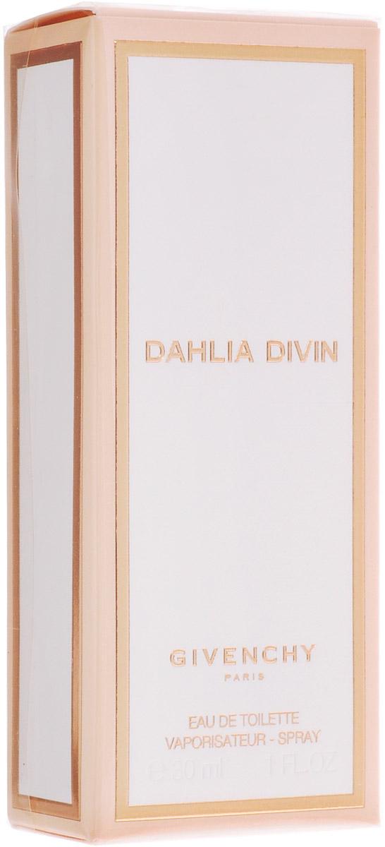 Givenchy Dahlia Divin Туалетная вода женская, 30 мл2218Удивительный дизайн удобного маленького золотящегося изнутри флакона с окантованной золотом белой крышечкой выглядит восхитительно, полностью соответствуя изысканному коктейлю Dahlia Divin. Композиция ненавязчивого аромата начинает играть спелыми нотами сливы Мирабель с энергичными, впечатляющими сладковато-терпковатыми запахами белых цветов и жасмина, перерождаясь в изумительный, переливающийся теплый шлейф из освежающего ветивера, бархатистого сандала и пачули. Женственный, аристократичный аромат Givenchy Dahlia Divin вызвал особый интерес среди миллионов поклонниц и удостоился высоких похвал, согревая своей умиротворенной теплотой своих обладательниц.