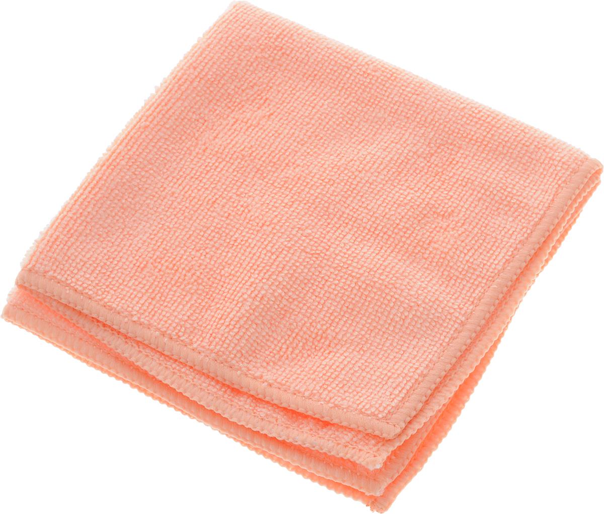 Салфетка для влажной уборки Помощница, цвет: персиковый, 30 х 30 смHM-2151_коричневый, белый, кругиСупервпитывающая салфетка Помощница, изготовленная из микрофибры, прекрасно подойдет для влажной уборки любых поверхностей на кухне. Изделие обладает высокой износоустойчивостью и рассчитано на многократное использование, легко моется в теплой воде с мягкими чистящими средствами. Супервпитывающая салфетка не оставляет разводов и ворсинок, удаляет большинство жирных и маслянистых загрязнений без использования химических средств.