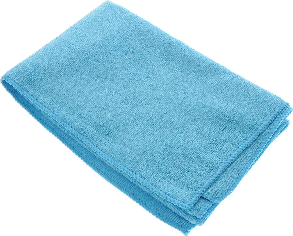 Тряпка для пола Celesta, из микрофибры, цвет: голубой, 50 х 60 см787502Тряпка для пола Celesta, выполненная из микрофибры (80% полиэстер, 20% полиамид), предназначена для мытья всех видов напольных поверхностей (паркет, плитка, ламинат, линолеум, кафель). В сухом виде - для ухода за потолками, стенами, ковровыми покрытиями. Тряпка деликатно очищает поверхность, не повреждая и не царапая. Не оставляет разводов и ворсинок. По сравнению с обычными тряпками впитывает во много раз больше влаги и пыли, благодаря повышенным абсорбционным и гигроскопичным свойствам. Можно использовать без моющих средств.