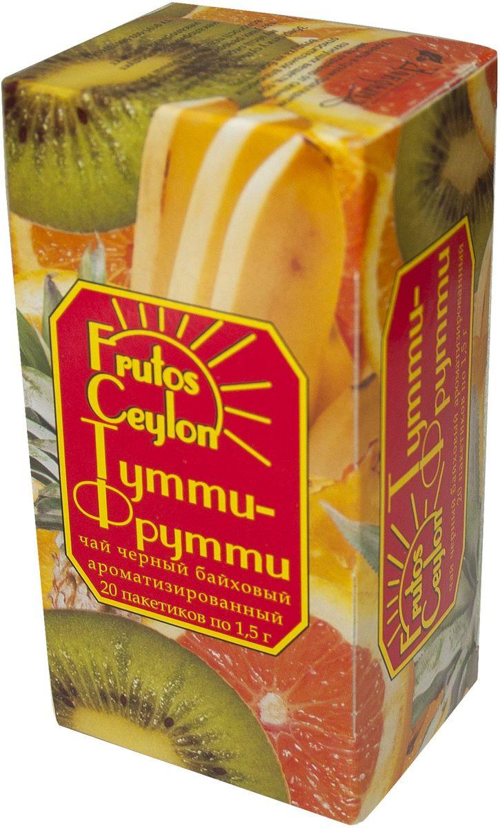 Frutos Ceylon Тутти-фрутти черный ароматизированный чай в пакетиках, 20 шт