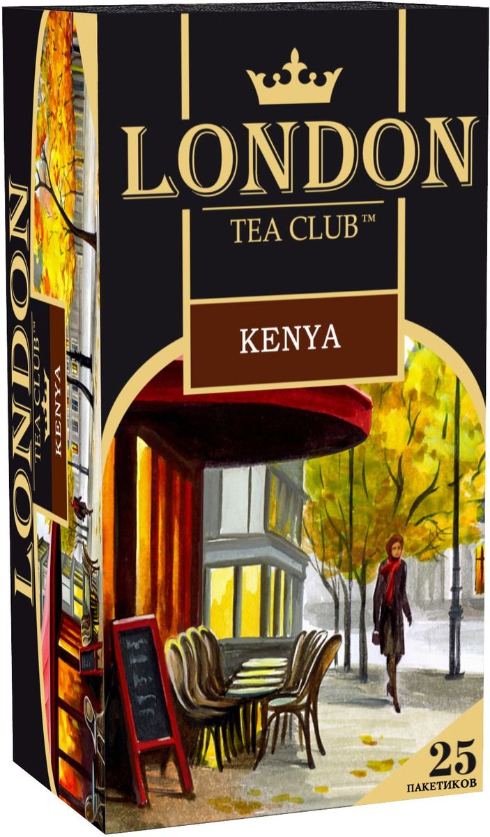 London Tea Club Kenya черный чай в пакетиках, 25 шт101246Кенийский гранулированный чай - один из самых насыщенных и крепких чаев, при заваривании дает бодрящий настой с характерным ореховым оттенком. Подходит для утреннего чаепития и прекрасно сочетается с небольшим количеством сливок и молока.