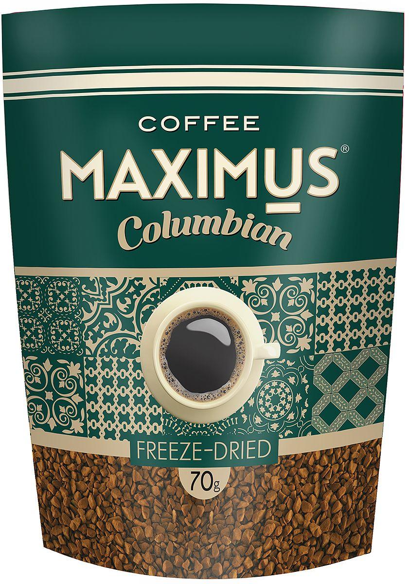 Maximus Columbian кофе растворимый, 70 г33183Maximus Columbian - флагманский продукт. Он принес марке Maximus известность и доверие потребителей. Это качественный бренд, составленный из отборных сортов кофе.