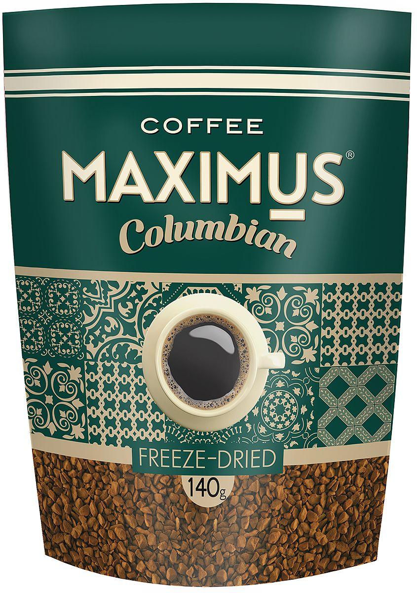 Maximus Columbian кофе растворимый, 140 г0120710Maximus Columbian - флагманский продукт. Он принес марке Maximus известность и доверие потребителей. Это качественный бренд, составленный из отборных сортов кофе.