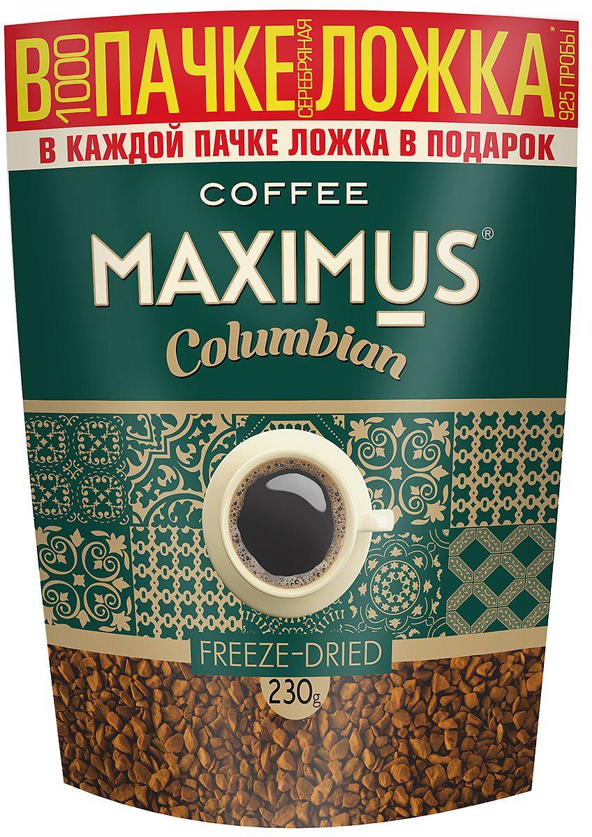 Maximus Columbian кофе растворимый, 230 г0120710Maximus Columbian - флагманский продукт. Он принес марке Maximus известность и доверие потребителей. Это качественный бренд, составленный из отборных сортов кофе.