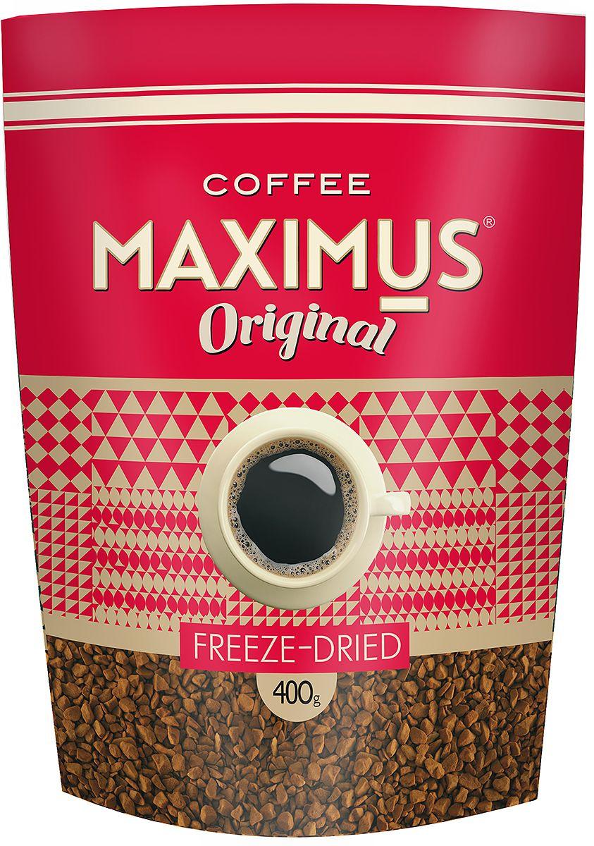 Maximus Original кофе растворимый, 400 г0120710ТМ Maximus Original - гармоничный бренд, достаточно крепкий, с благородным вкусом, отлично подходит для утренней чашки кофе, зарядит энергией в течение дня.
