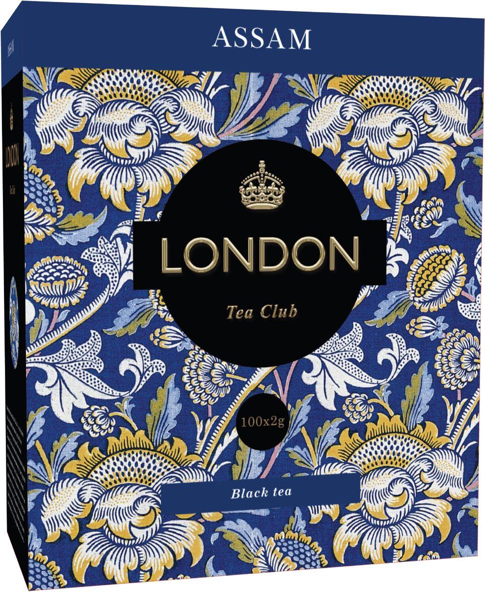 London Tea Club Assam черный чай в пакетиках, 100 шт0120710Великолепный индийский Assam - достаточно терпкий и пряный, чтобы дарить бодрость, и достаточно мягкий, чтобы стать источником спокойствия и удовлетворения.