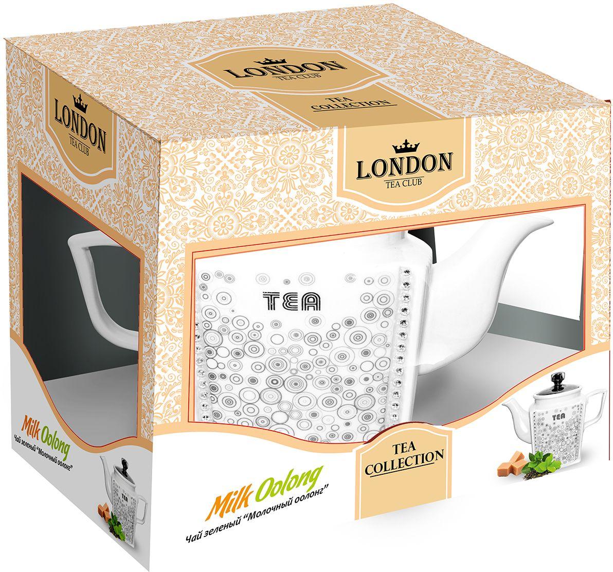 London Tea Club Молочный оолонг чай зеленый в заварнике, 100 г4607051542495Полуферментированный зеленый чай с приятным сливочным привкусом и нежным карамельно-молочным ароматом. Особенностью чая является его согревающий и тонизирующий эффект. Чай содержит большое количество антиоксидантов, витаминов и микроэлементов, улучшает обмен веществ.