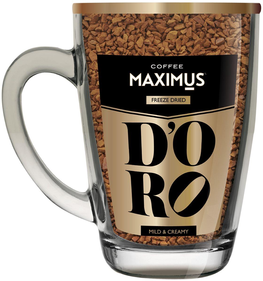 Maximus Doro кофе растворимый в стеклянной кружке, 70 г0120710Создан для любителей мягкого кофе с нежной пенкой.