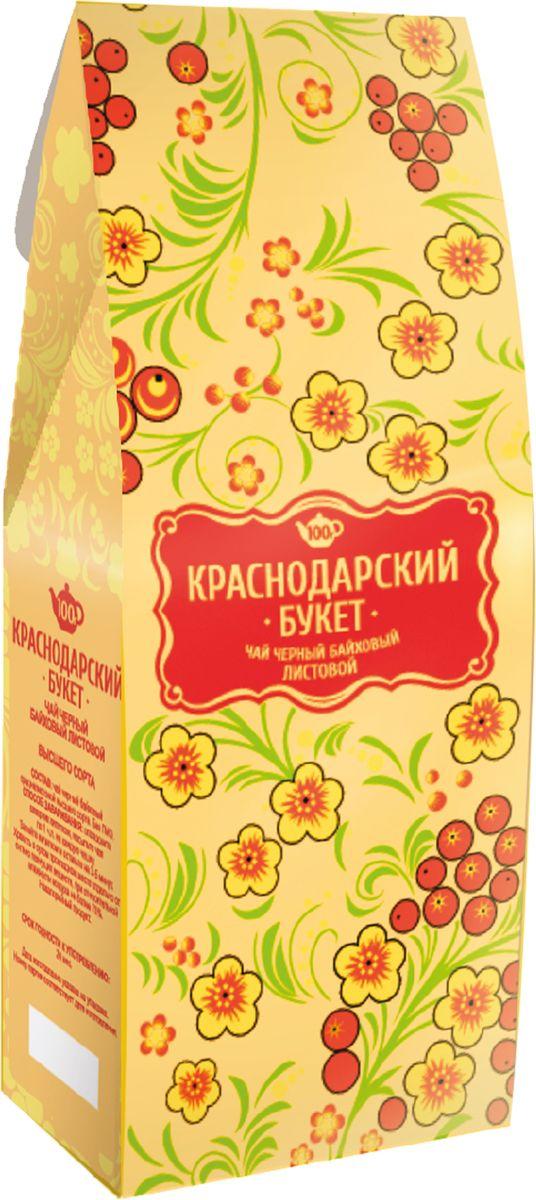Краснодарский букет чай черный листовой, 100 г70105Классический черный чай с характерным ароматом и крепким насыщенным вкусом.