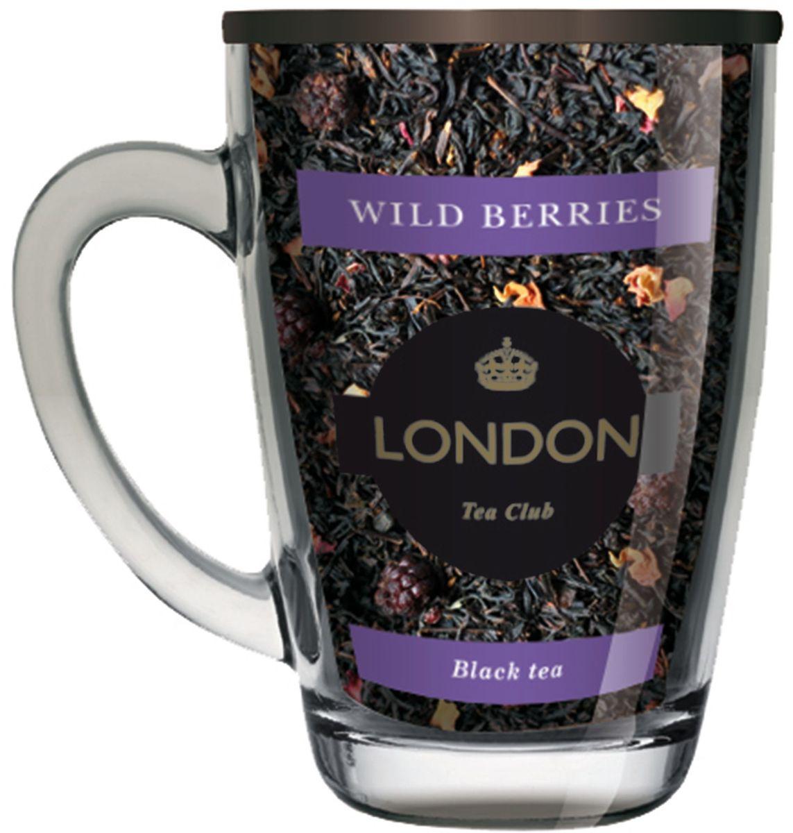 London Tea Club Лесные ягоды чай черный в стеклянной кружке, 70 г4607051543560Ароматная смесь черного чая и цельных лесных ягод, которые придают напитку особый ягодный вкус. Этот благоухающий чай создает приятное летнее настроение, прекрасно восстанавливает силы.