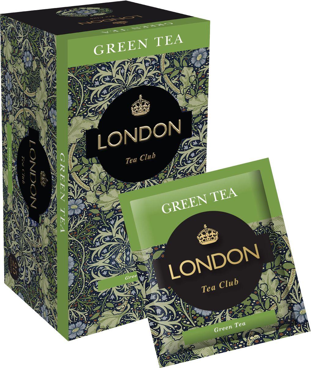 London Tea Club Green Tea черный чай в пакетиках, 25 шт0120710Превосходный китайский зеленый чай, созданный вдохновлять и дарить бодрость. Именно в Китае родилась традиция проведения красивых чайных церемоний, а сам чай часто называют божественным напитком. Китайский зеленый чай London Tea Club прекрасно тонизирует и поможет начать день в хорошем, бодром настроении.