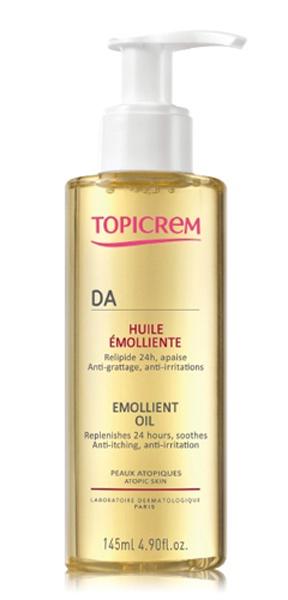 Topicrem АД Масло смягчающее, 145 мл72523WDНовинка от Топикрем - Смягчающее масло-уход для атопичной кожи. Средство с уникальной текстурой микроэмульсии оказывает длительное увлажняющее действие до 24 часов, снимает зуд, и успокаивает раздраженную кожу на весь день. Укрепляет кожный барьер, за счет восстановления липидного слоя.