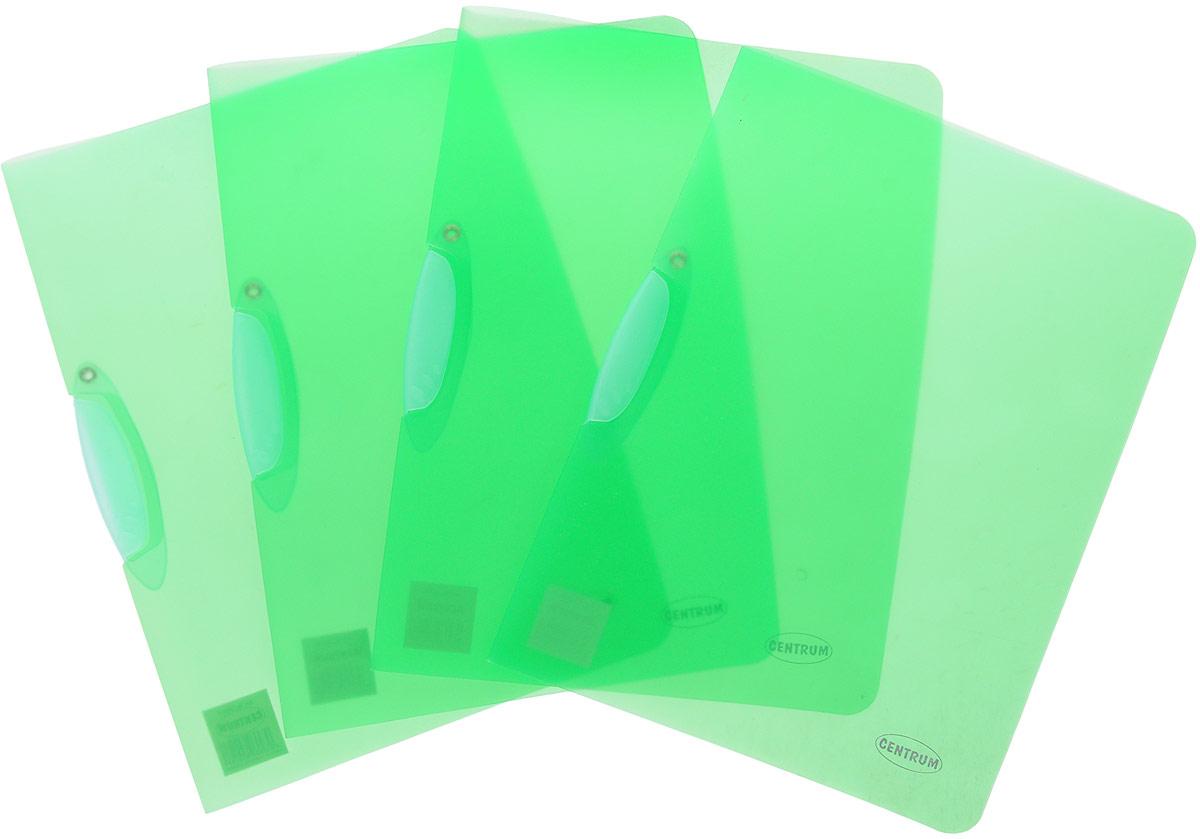 Centrum Папка с клипом цвет зеленый 4 шт папка с клипом centrum прозрачная цвет синий формат а4 4 шт