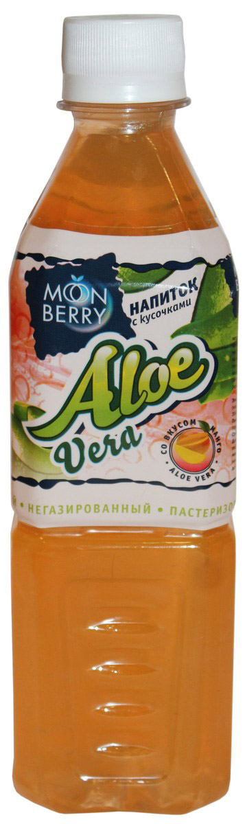 Мооnberry напиток Алоэ манго, 500 мл00000040636Напиток безалкогольный негазированный пастеризованный с кусочками Алоэ, со вкусом манго.