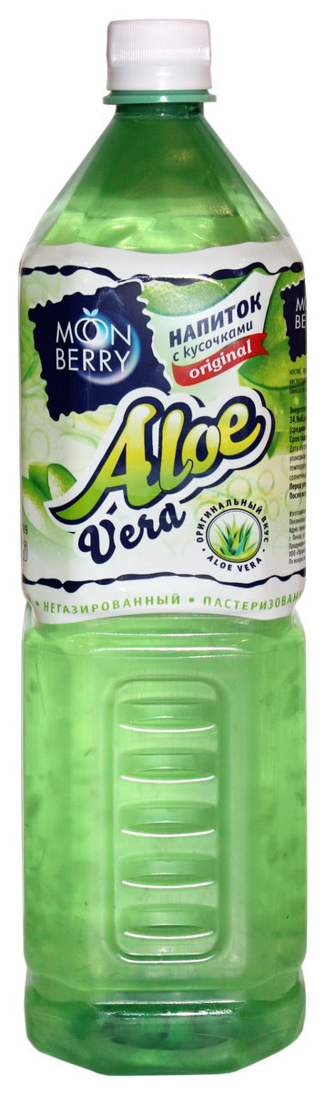 Мооnberry напиток Алоэ, 1,5 л00000040637Напиток безалкогольный негазированный пастеризованный с кусочками Алоэ.