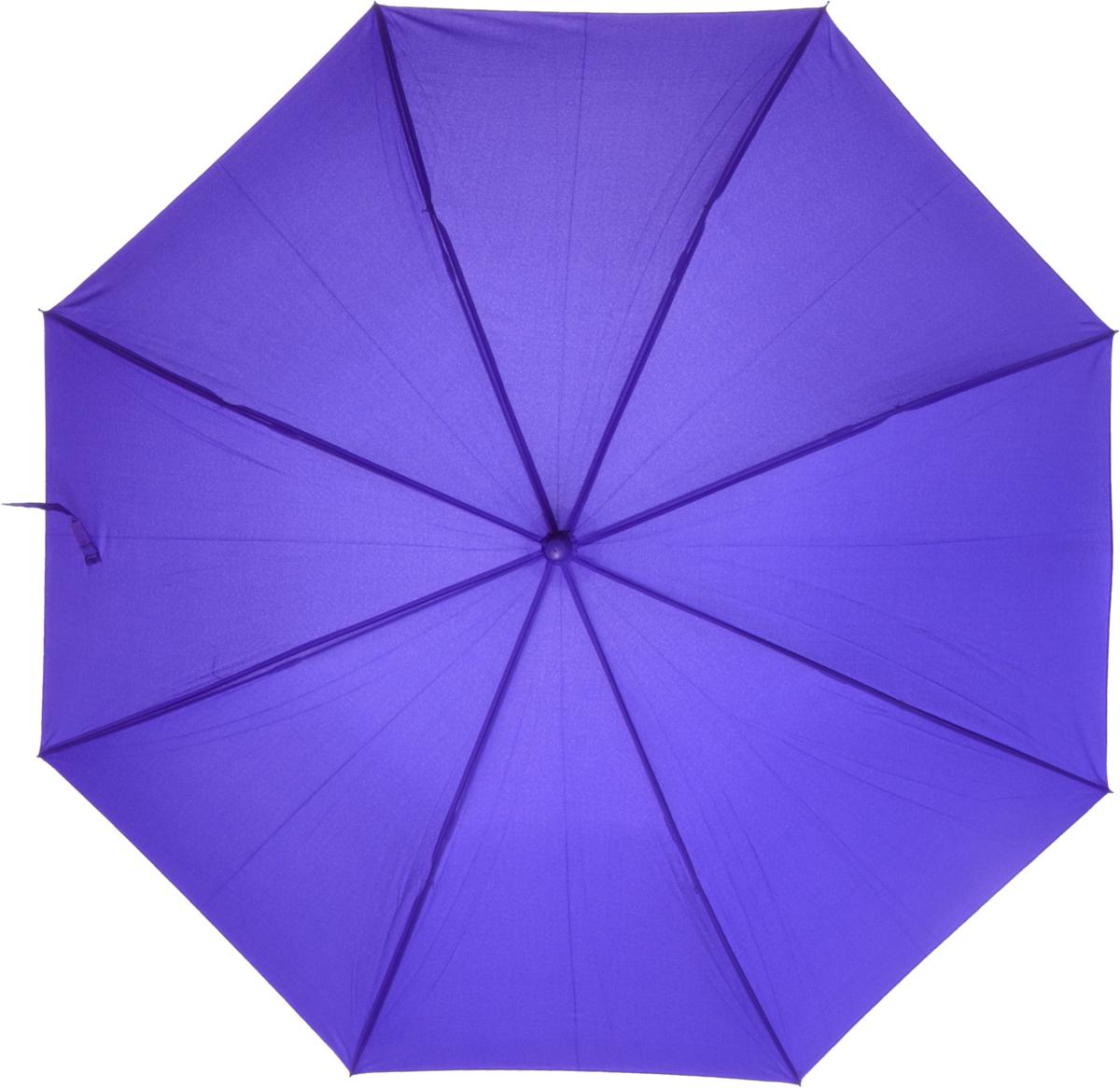 Зонт-трость женский Nuages, цвет: сиреневый. NZ1240/3purple45100839/18076/7900NЗонт - трость. Однотонный. 8 спиц. Автоматическое открытие.