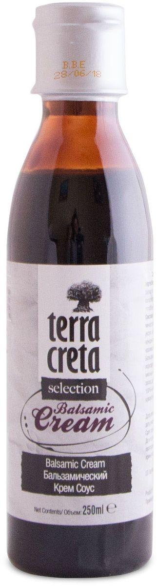 Terra Creta бальзамический крем, 250 млУТ000000740Бальзамический крем-соус TERRA CRETA идеально подходит для заправки супов, салатов, мясных и рыбных блюд. Приятный вкус и запах добавят изюминку вашему блюду.