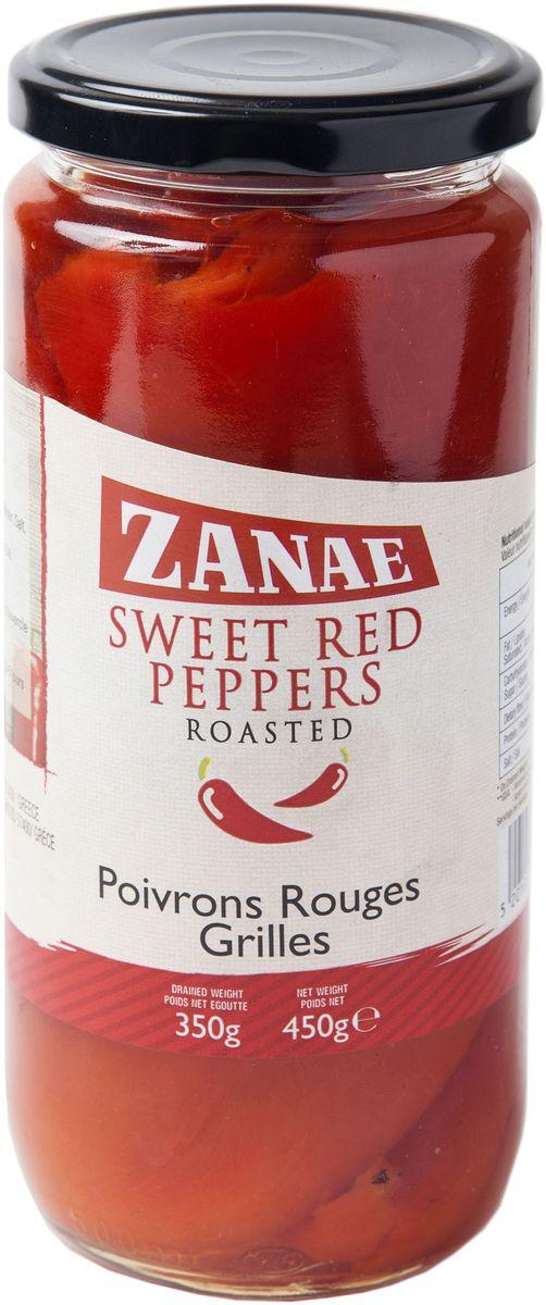 Zanae перец Алорина красный печеный, 450 г0120710Перцы Флорины превосходны в качестве закуски, их также используют в соусах к пасте или сырных соусах с мягким белым сыром, с оливковым маслом и травами.