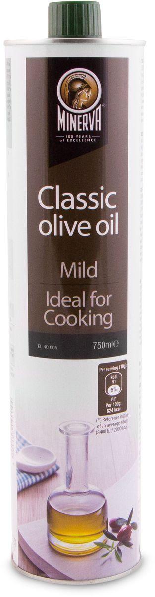 Minerva Classic оливковое масло, 750 мл0120710Minerva Classic представляет собой смесь: 75% Оливкового масла Extra Virgin и 25% рафинированного оливкового масла. Благодаря чему оливковое масло оно идеально подходит как для салатов и холодных закусок, так и для горячего приготовления.