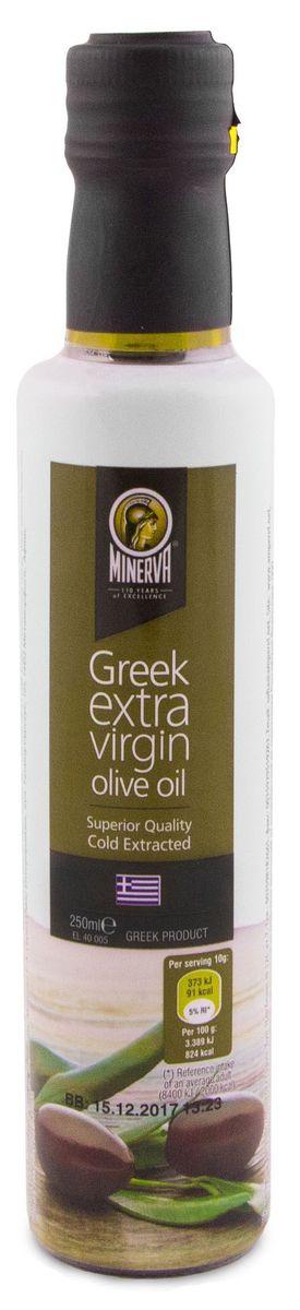 Minerva Extra Virgin оливковое масло, 250 мл0120710Греческое оливковое масло Minerva Extra Virgin первого холодного отжима произведено из оливок сорта Коронейки. Это отборное масло позволяет почувствовать насыщенный фруктовый вкус свежесобранных оливок.