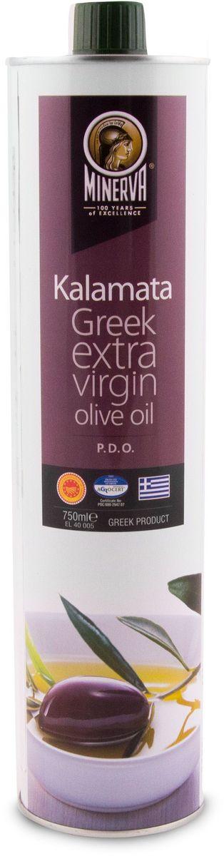 Minerva Extra Virgin Kalamata оливковое масло, 750 мл0120710Греческое оливковое масло Minerva Kalamata произведено из оливок региона Каламата, которые сразу после сбора урожая были доставлены на производство и обработаны методом холодного прессования. Масло первого холодного отжима.