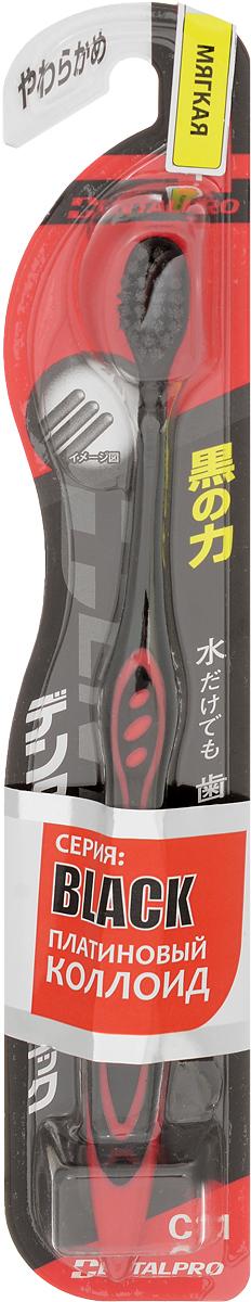 Dentalpro Зубная щетка Black Compact Head, сверхмягкая, цвет: черный, красный5010777139655Зубная щетка Dentalpro Black Compact Head тщательно и бережно очищает зубы. PCC (платиновая коллоидная керамика) в составе щетинок позволяет эффективно ухаживать за полостью рта даже без использования зубной пасты. Особенности:Очистка с технологией PCC на 15% результативнее. Компактная головка щетки позволяет комфортно очищать поверхность зубов в труднодоступных местах.Товар сертифицирован.