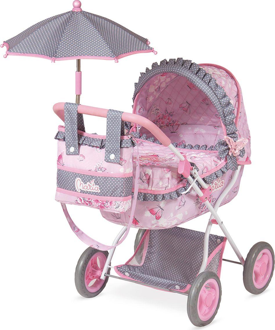 DeCuevas Коляска для куклы Мария с сумкой и зонтом коляска i