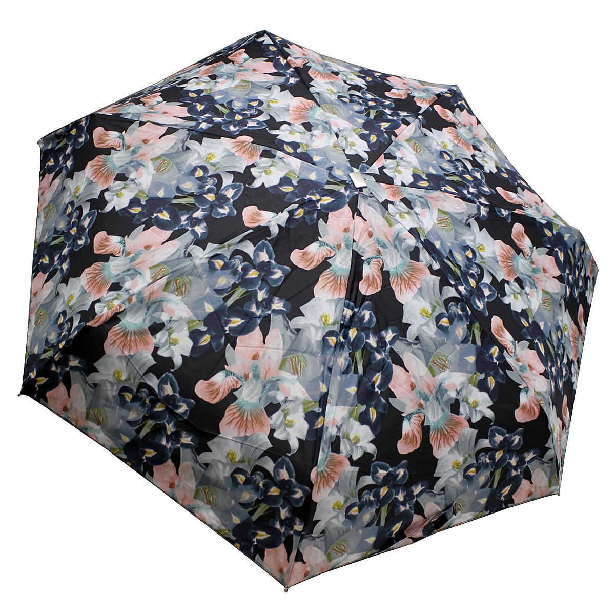 Зонт женский Edmins, механика, 5 сложений, цвет: черно-розовый. 110-145100032/35449/3537AМеханический компактный зонт Edmins в 5 сложений даже в ненастную погоду позволит вам оставаться стильной и элегантной. Купол зонта выполнен из прочного полиэстера. Каркас зонта выполнен из 7 металлических спиц, удобная рукоятка - из пластика с металлизированным матовым покрытием. Стержень выполнен из алюминия и стали.На рукоятке для удобства есть небольшой шнурок, позволяющий надеть зонт на руку тогда, когда это будет необходимо. Зонт оснащен системой антиветер, что защищает его от поломок при выворачивании ветром. Компактные размеры зонта в сложенном виде позволят ему без труда поместиться в сумочке и не доставят никаких проблем во время переноски. К зонту прилагается чехол. Длина спицы: 51 см.Длина стержня: 48 см.Вес: 240 г.